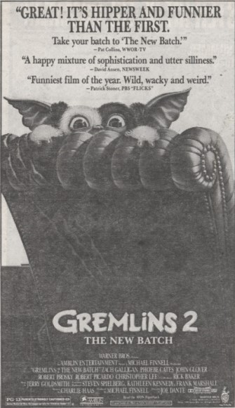 gremlins 2 the new batch ad mat2