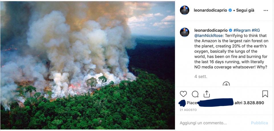 incendio amazzonia