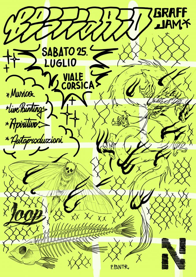 Bestiario Graff Jam - Flyer